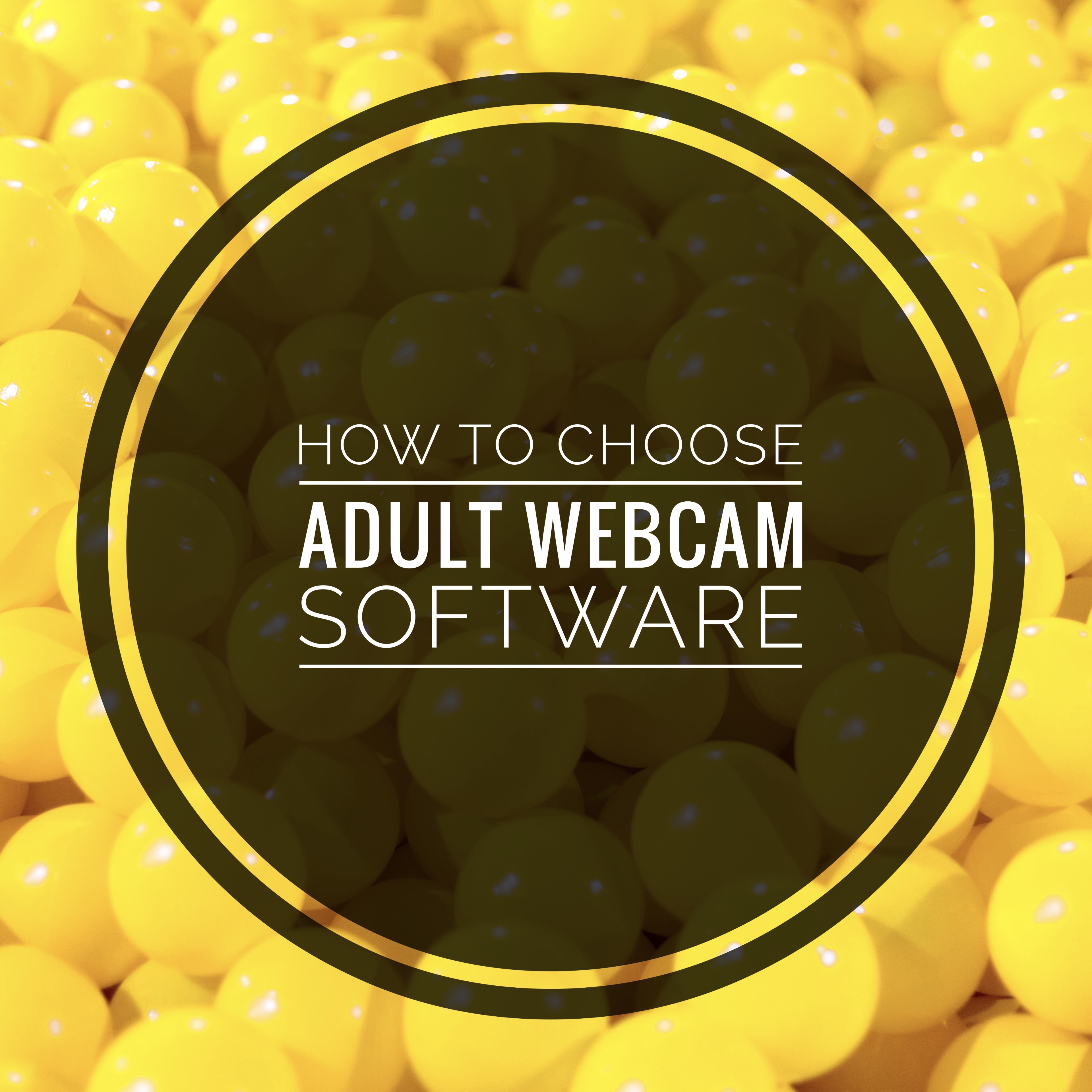 how to choose adult webcam software